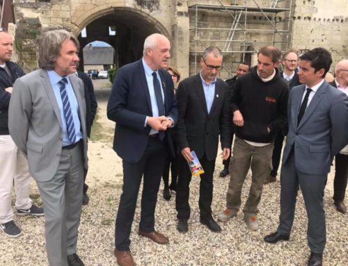 Visite ministérielle de Gabriel Attal à Berzy-le-Sec