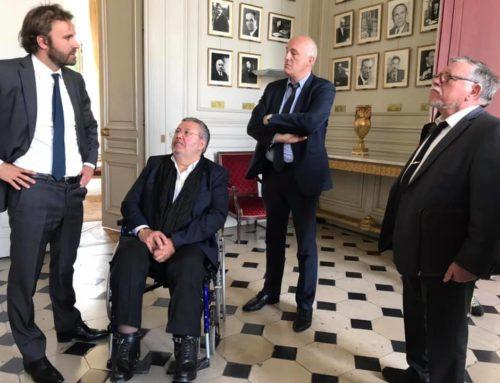 Rencontre au Ministère du Travail avec Patrick Toulmet et Christian Crohem, Maire de Tergnier